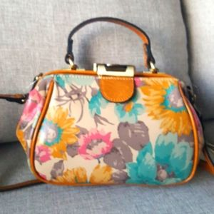 Patricia Nash Italian leather floral handbag